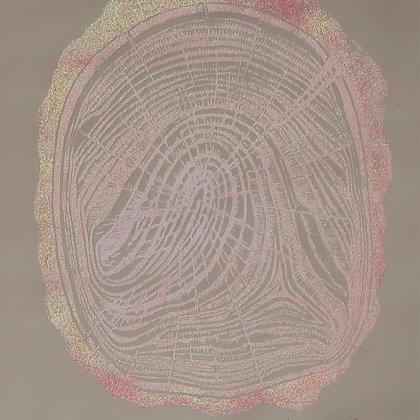 Linogravure 5 / 30, 2018, technique de gravure en taille d'épargne, 49 x 36 cm