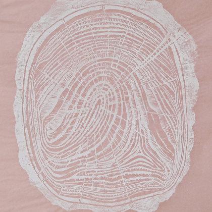 Linogravure 7 / 30, 2018, technique de gravure en taille d'épargne, 49 x 36 cm
