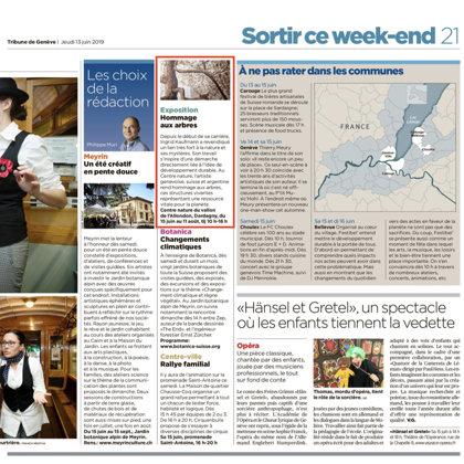 2019 Tribune de Genève, CH